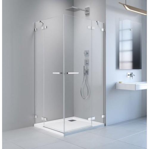 Radaway Arta KDD II szögletes zuhanykabin 90x90 króm keret, átlátszó üveg