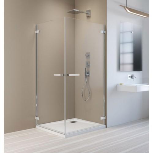 Radaway Arta KDD I szögletes zuhanykabin 90x90 króm keret, átlátszó üveg