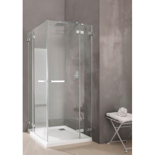 Radaway Euphoria KDD szögletes zuhanykabin 90x90 króm keret, átlátszó üveg