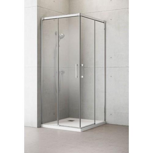 Radaway Idea KDD szögletes zuhanykabin 90x90 króm keret, átlátszó üveg
