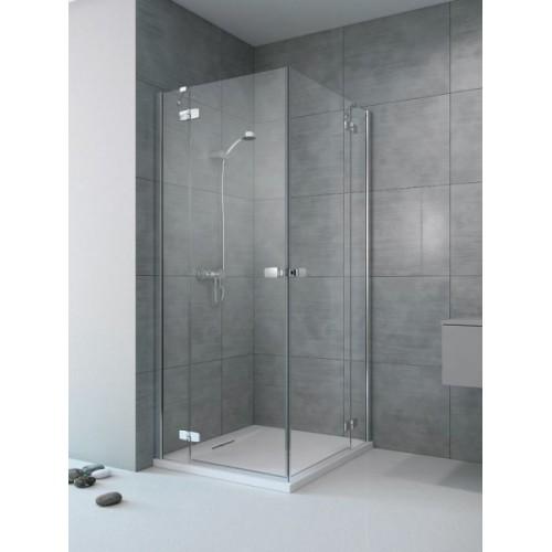 Radaway Fuenta New KDD szögletes zuhanykabin 90x90 króm keret, átlátszó üveg