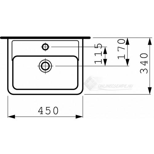 Laufen Pro A 45x34 mosdó