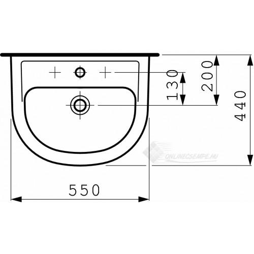 Laufen Pro B 55x44 mosdó