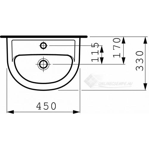 Laufen Pro B 45x33 mosdó