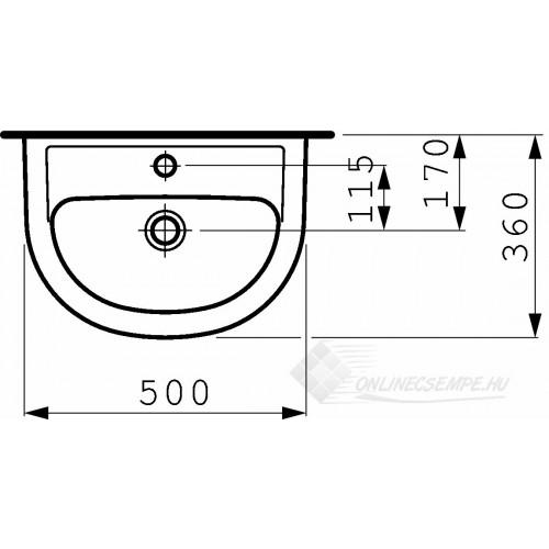 Laufen Pro B 50x36 mosdó
