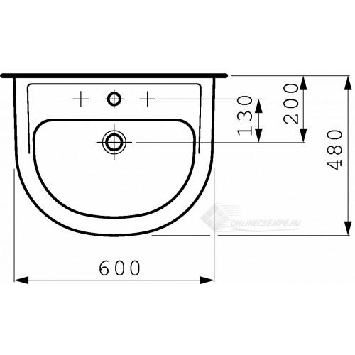 Laufen Pro B 60x48 mosdó