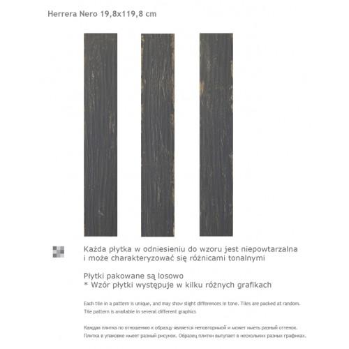 Paradyz Ceramika Herrera Nero 19,8x119,8 mázas gres padlólap