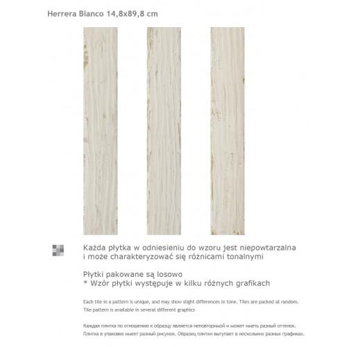 Paradyz Ceramika Herrera Bianco 14,8x89,8 mázas gres padlólap