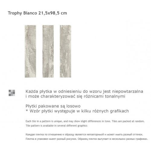 Paradyz Ceramika Trophy Bianco 21,5x98,5 gres padlólap