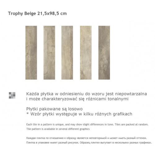Paradyz Ceramika Trophy Beige 21,5x98,5 gres padlólap