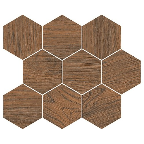 Cersanit Finwood Ochra Mosaic Hexagon 28x33,7 mozaik