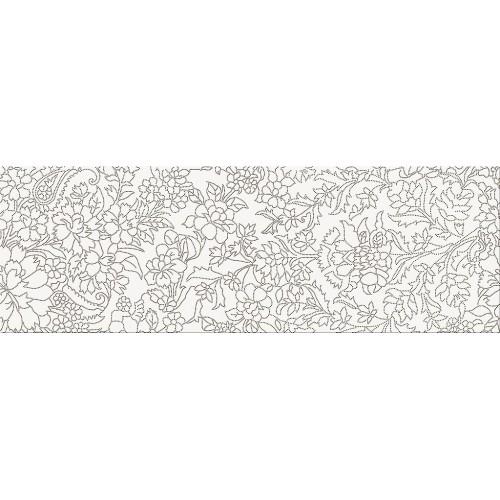 Cersanit Pret-a-Porter White Inserto Flower 25x75 dekor