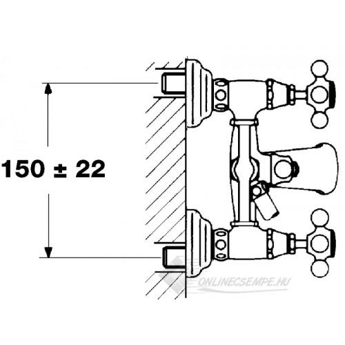 Teka 1820 kádtöltő csaptelep zuhanyszettel