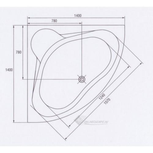 Cersanit Venus 140x140 akryl kád