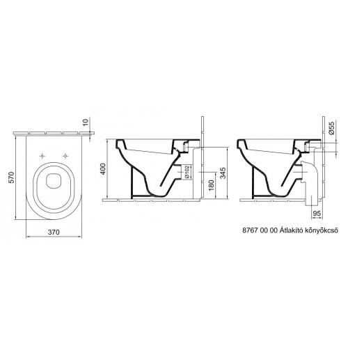 Alföldi Formo álló WC mélyöblítésű