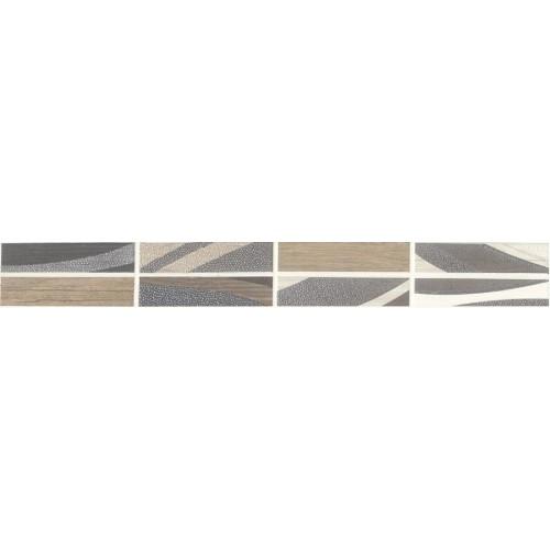 Idea Ceramica Wood Grigio 5x40 dekor csík