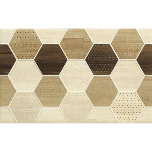Cersanit Mosa Cream Inserto Geo Cubes 25x40 dekor