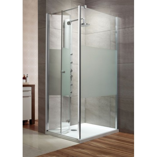 Radaway EOS KDJ-B szögletes zuhanykabin 90x90 króm keret, intimo üveg