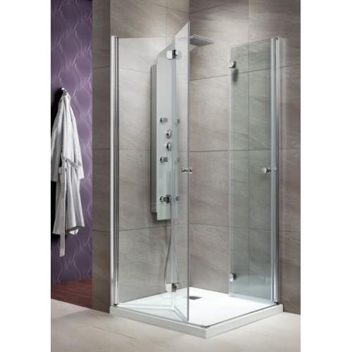 Radaway EOS KDD-B szögletes zuhanykabin 90x90 króm keret, átlátszó üveg