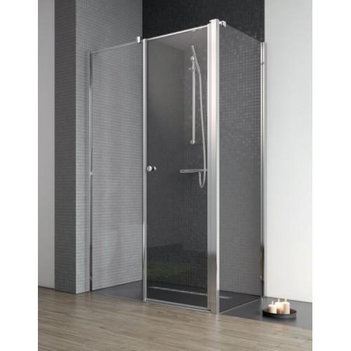 Radaway EOS II KDS szögletes zuhanykabin 90x90 króm keret, átlátszó üveg