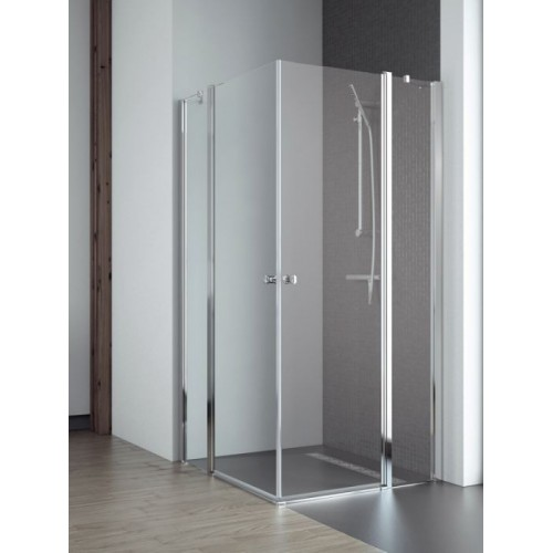 Radaway EOS II KDD szögletes zuhanykabin 90x90 króm keret, átlátszó üveg