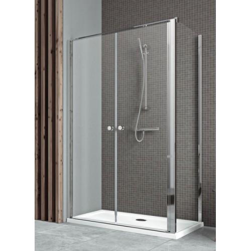 Radaway EOS II DWD+S szögletes zuhanykabin 90x90 króm keret, átlátszó üveg
