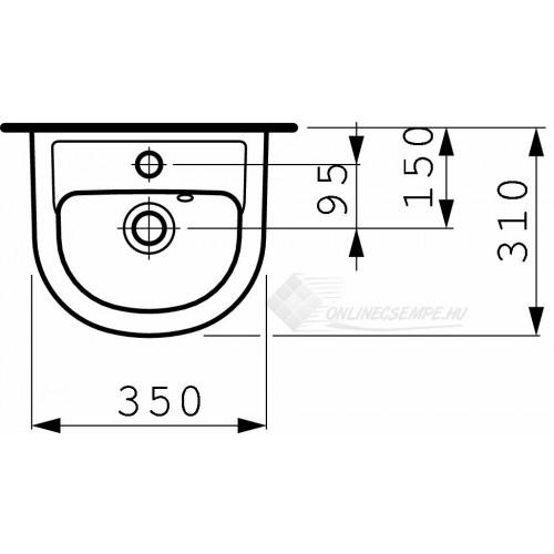 Laufen Pro B 35x31 kézmosó