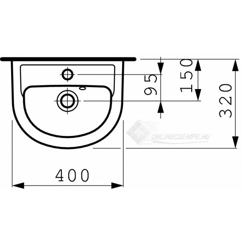 Laufen Pro B 40x32 kézmosó