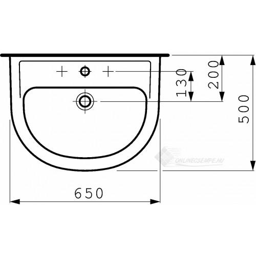 Laufen Pro B 65x50 mosdó
