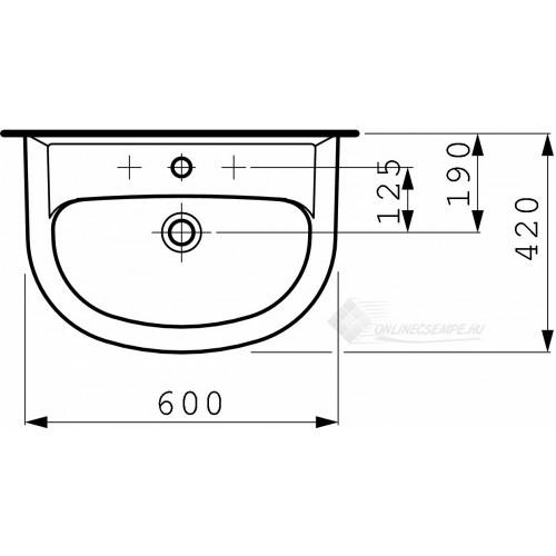 Laufen Pro B 60x42 mosdó