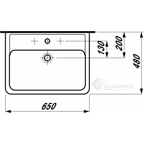 Laufen Pro A 65x48 mosdó