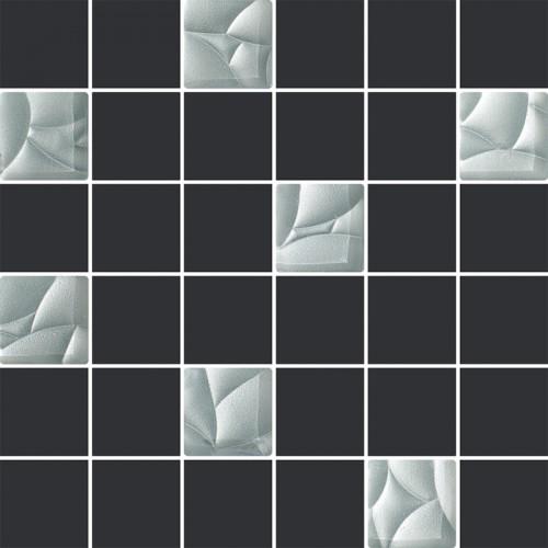 Paradyz Ceramika Esten Grafit Silver Mosaic Mix 29,8x29,8 mozaik