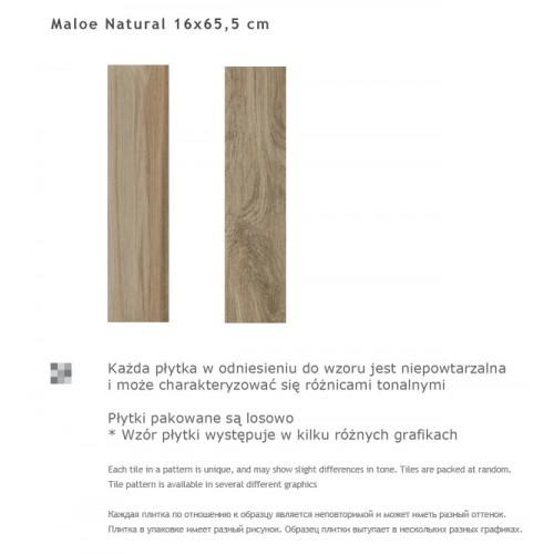 Paradyz Ceramika Maloe Natural 16x65,5 gres padlólap