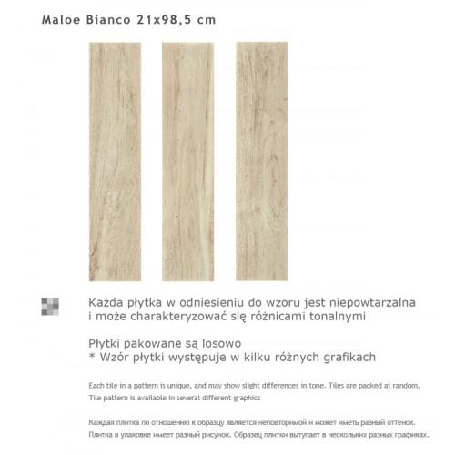 Paradyz Ceramika Maloe Bianco 21,5x98,5 gres padlólap