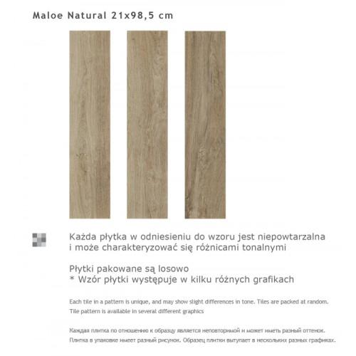 Paradyz Ceramika Maloe Natural 21,5x98,5 gres padlólap