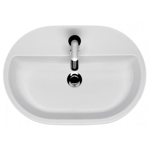 Cersanit Caspia 60 ovális alakú, pultra szerelhető mosdó