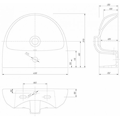 Kolo Nova Pro 36x29 mosdó, ovális
