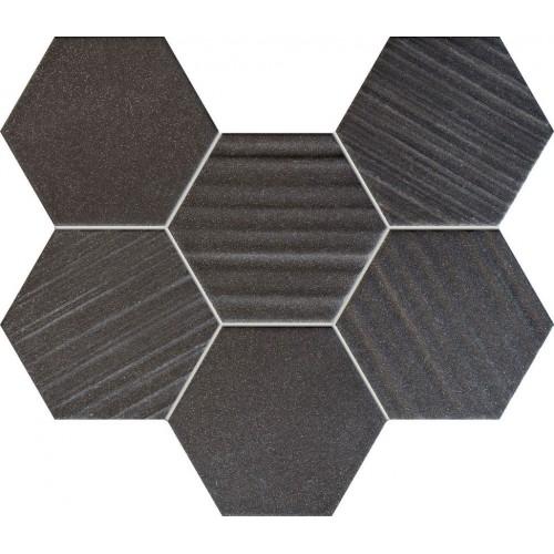 Tubadzin Horizon Hex Black 22,1x29,8 mozaik