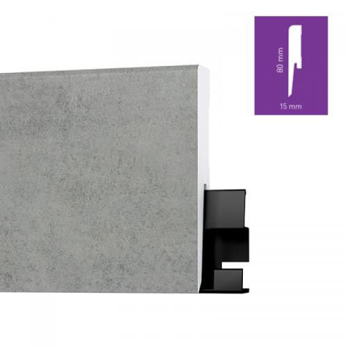 ONE80 Brooklyn Concrete 8 cm magas vízálló szegőléc