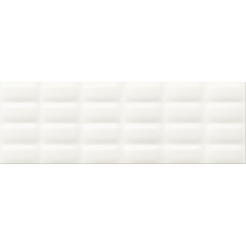 Cersanit Pret-a-Porter White Glossy Pillow STR 25x75 csempe