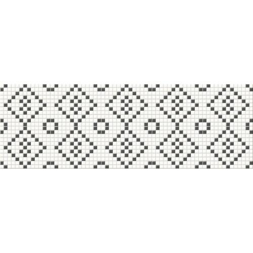 Cersanit Pret-a-Porter Black&White Mosaic 25x75 dekor
