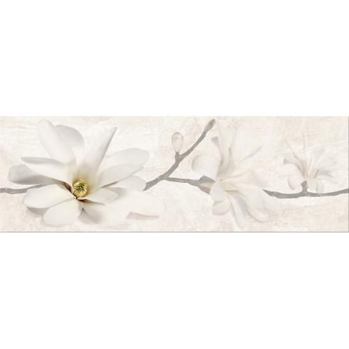 Cersanit Stone Flowers Beige Inserto 25x75 dekor