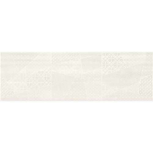 Cersanit Ferano White Patchwork Inserto Satin 24x74 csempe