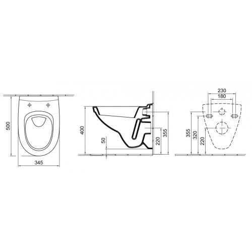 Alföldi Melina fali WC mélyöblítésű