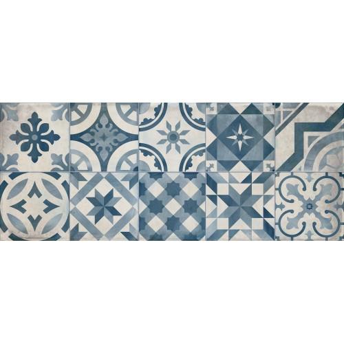 Cifre Ceramica Decor Montblanc Blue 20x50 fali csempe