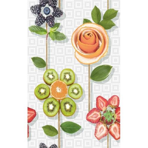 Cifre Ceramica Composicion Kiwi 80x50 dekor csempe szett (4 db)