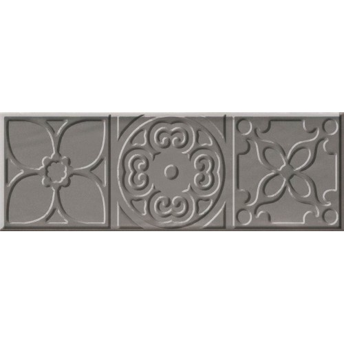 Cifre Ceramica Decor Altair Grey 10x30 dekor csempe