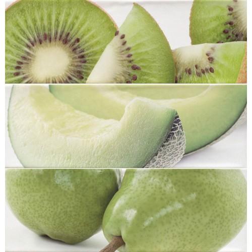 Cifre Ceramica Composicion Citrus Green 30x30 dekor csempe szett (3 db)