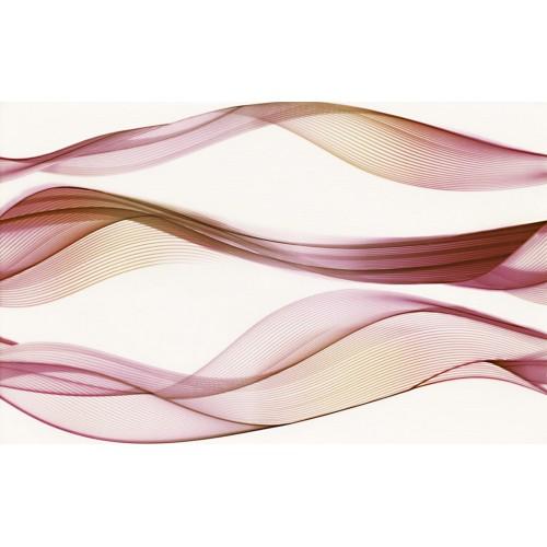 Cersanit Elfi Red Inserto Waves 25x40 dekor